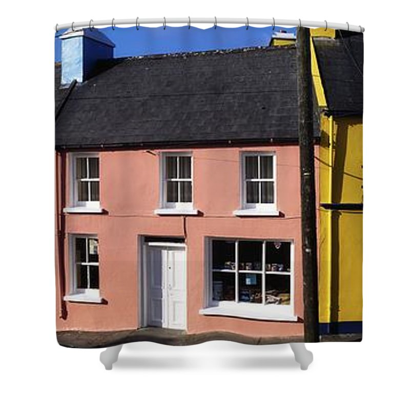 Architecture Shower Curtain featuring the photograph Eyries Village, West Cork, Ireland by The Irish Image Collection