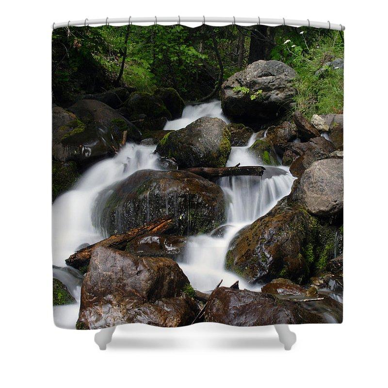 Doug Lloyd Shower Curtain featuring the photograph Facinating Falls by Doug Lloyd