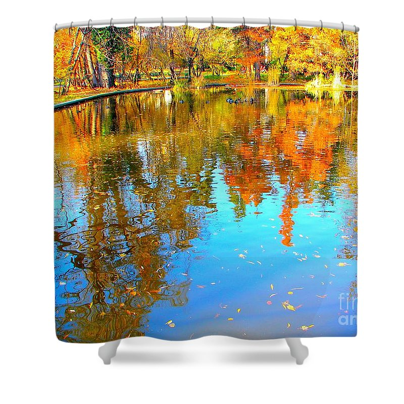 Fall Shower Curtain featuring the photograph Fall Reflections by Ana Maria Edulescu