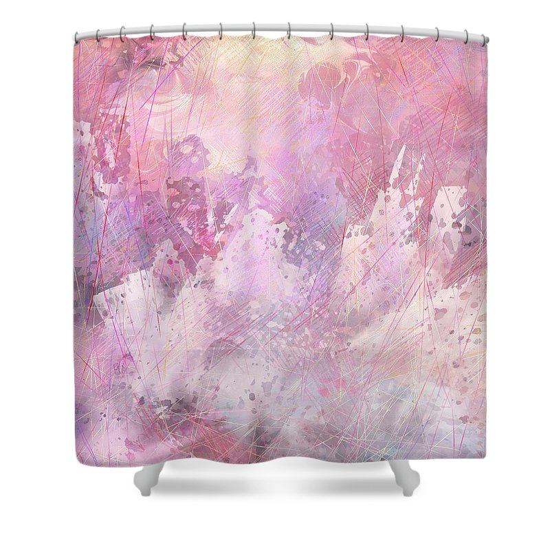 Fantasy Shower Curtain featuring the digital art Fallen City by Rachel Christine Nowicki