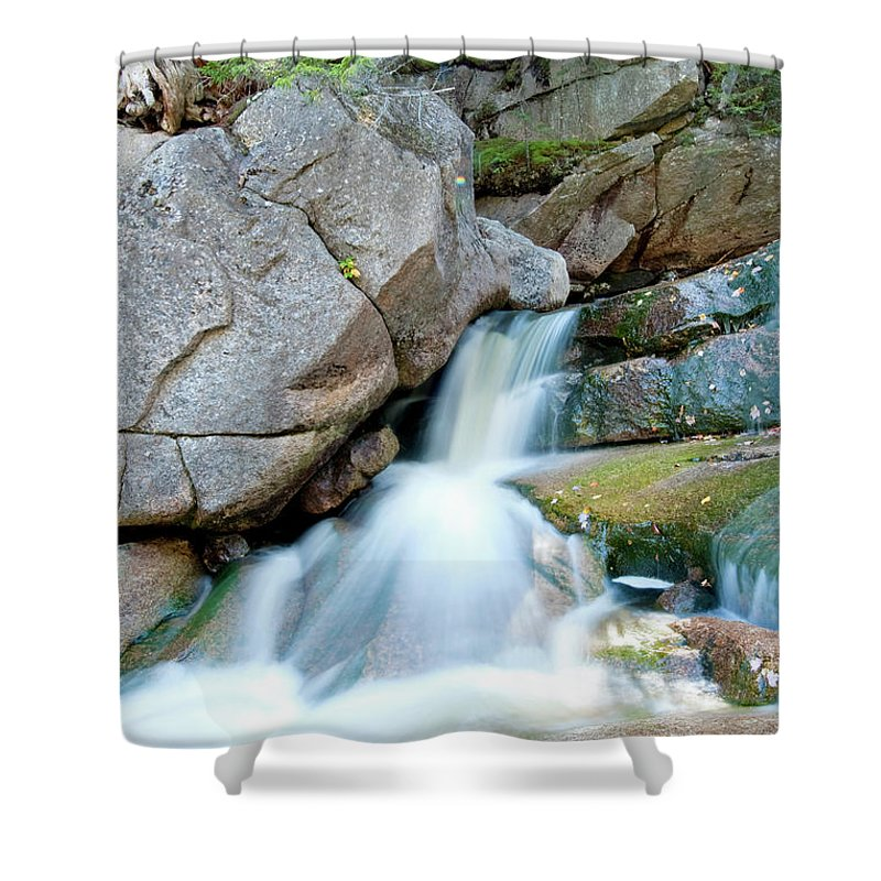 Water Shower Curtain featuring the photograph Falling by Greg Fortier