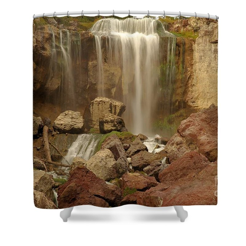 Paulina Falls Shower Curtain featuring the photograph Falling Into The Canyon by Adam Jewell