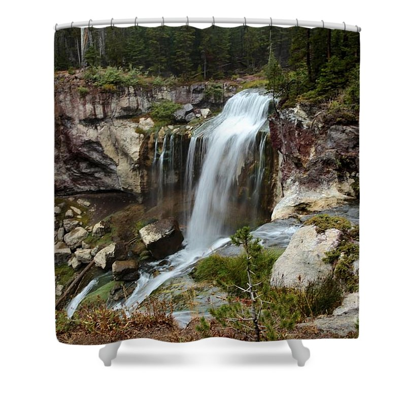 Paulina Falls Shower Curtain featuring the photograph Falls At Newberry by Adam Jewell