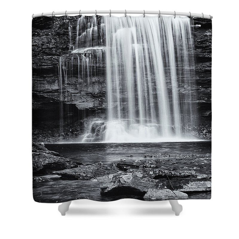 Landscape Shower Curtain featuring the photograph Falls by Fran Gallogly