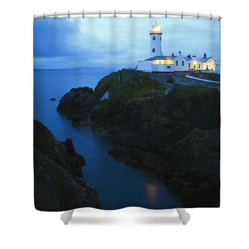 Beacon Shower Curtain featuring the photograph Fanad Head Lighthouse, County Donegal by Richard Cummins