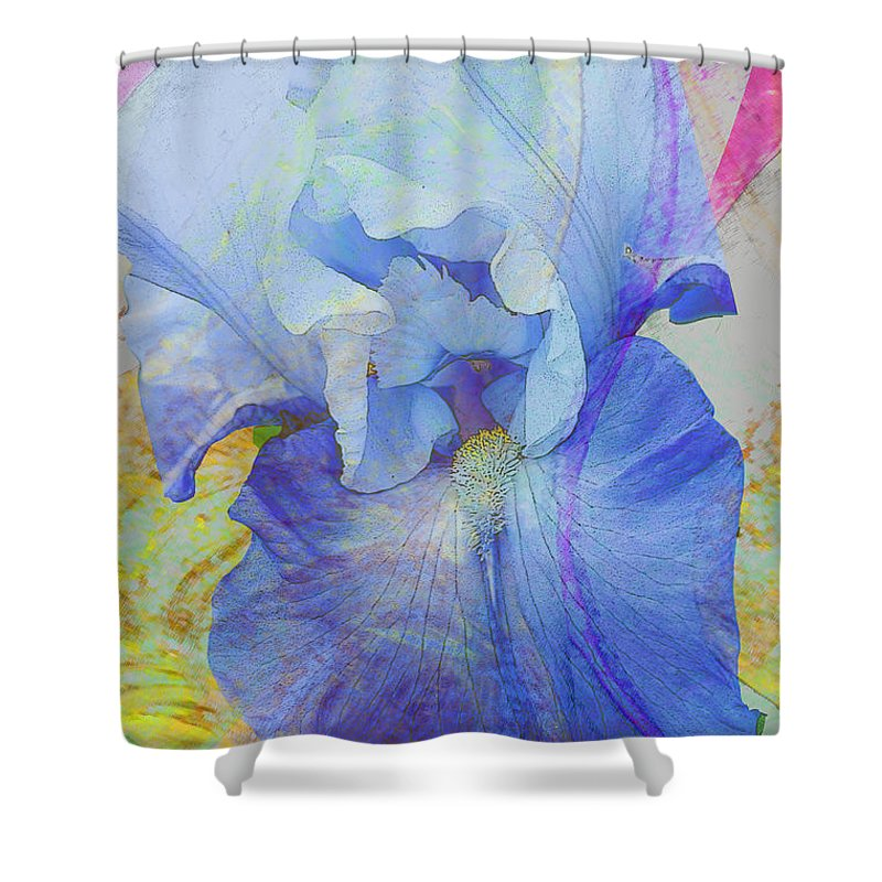 Iris Shower Curtain featuring the photograph Fanciful Flowers - Iris by Regina Geoghan