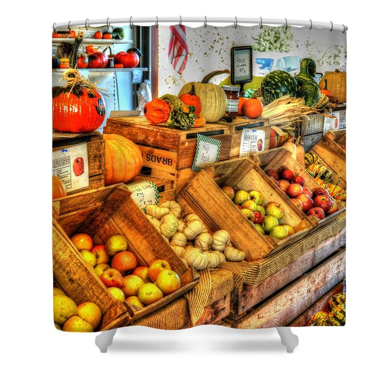 Fruit Shower Curtain featuring the photograph Farmer's Market by Debbi Granruth