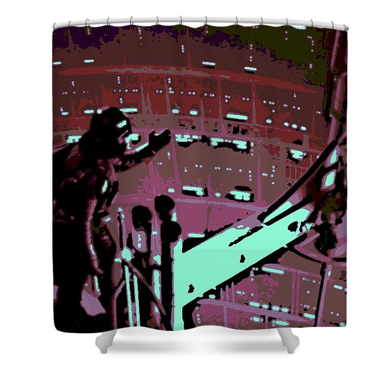 Darth Vader Shower Curtain featuring the photograph Father And Son Reunion by George Pedro