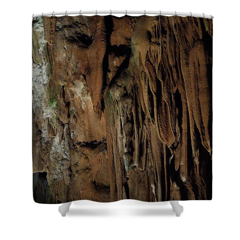 Colette Shower Curtain featuring the photograph Featured Grotte De Magdaleine In South France Region Ardeche by Colette V Hera Guggenheim