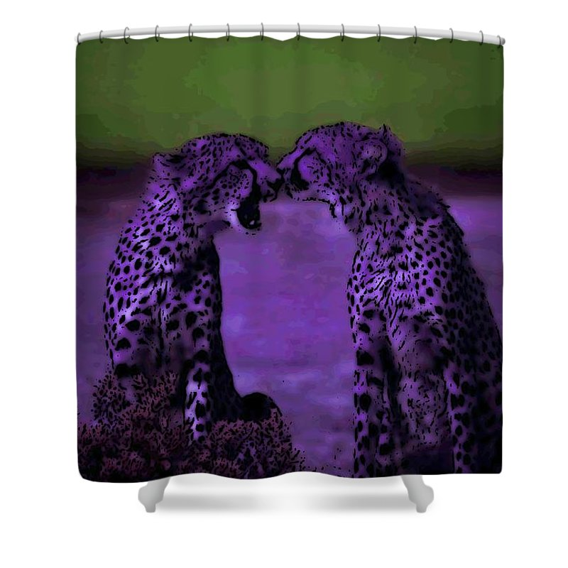 Cheetahs Shower Curtain featuring the photograph Feelings by George Pedro
