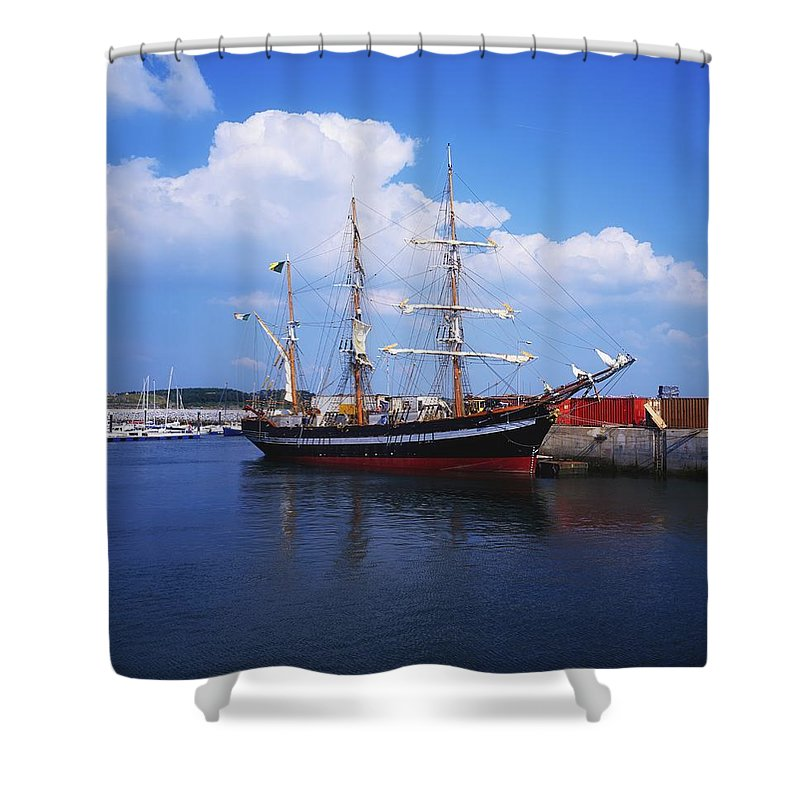 Day Shower Curtain featuring the photograph Fenit, Co Kerry, Ireland Famine Ship by The Irish Image Collection