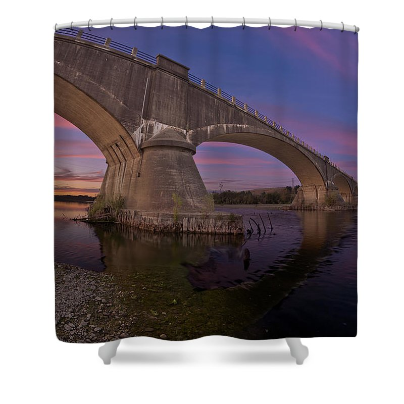 Fernbridge Shower Curtain featuring the photograph Fernbridge Dusk by Greg Nyquist