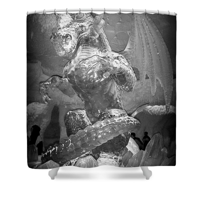 Dragon Shower Curtain featuring the photograph Fire And Ice by Lene Pieters