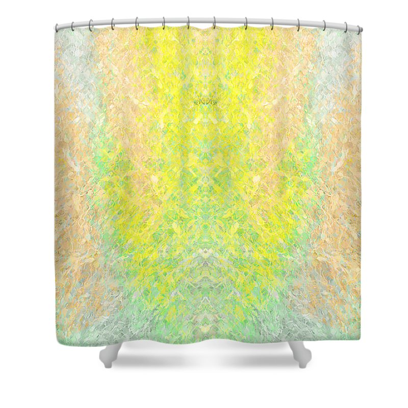 Shower Curtain featuring the painting Firefly Macro2 by Christopher Gaston