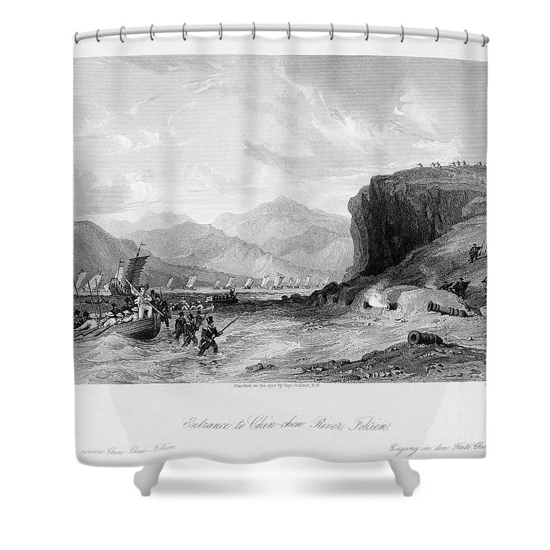 1841 Shower Curtain featuring the photograph First Opium War, C1841 by Granger