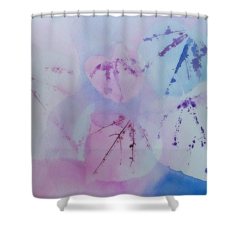 Watercolor Shower Curtain featuring the painting Five Of Hearts by Heidi Smith