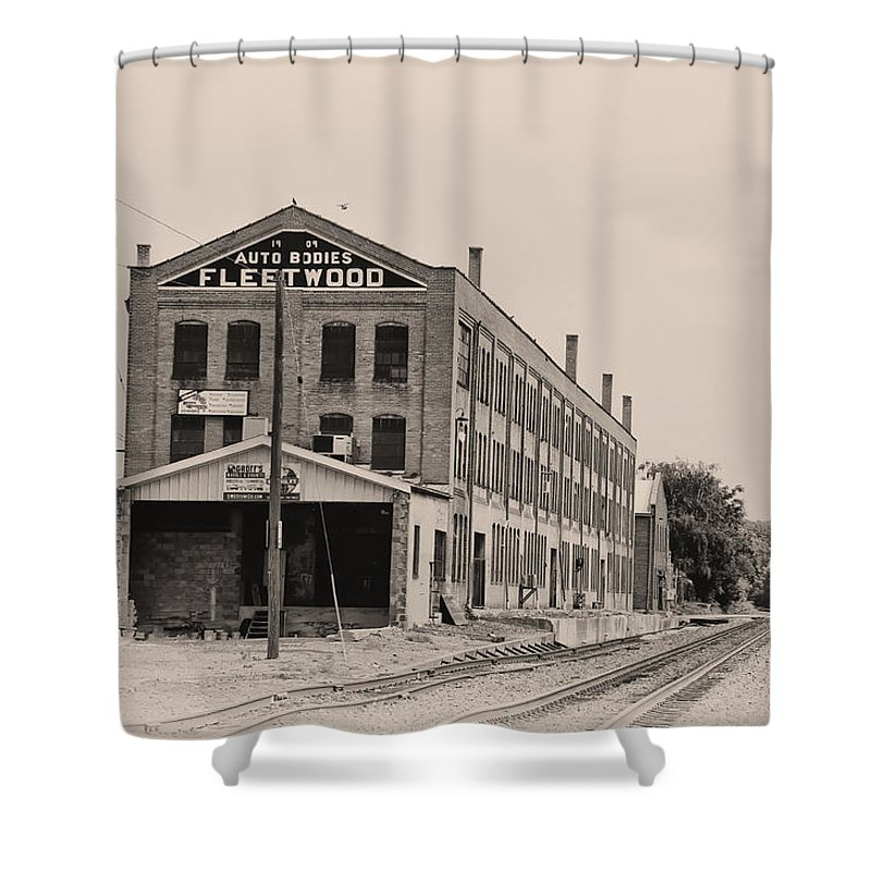 Packard Shower Curtain featuring the photograph Fleetwood Autobody Factory by Bill Cannon