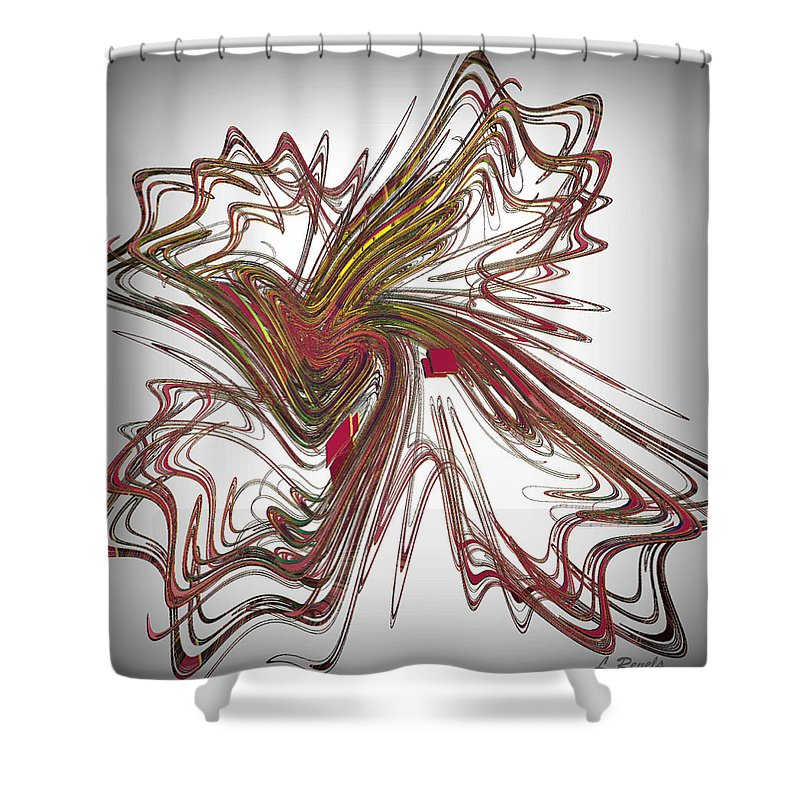 Fractal Shower Curtain featuring the digital art Flight Of Fancy by Leslie Revels