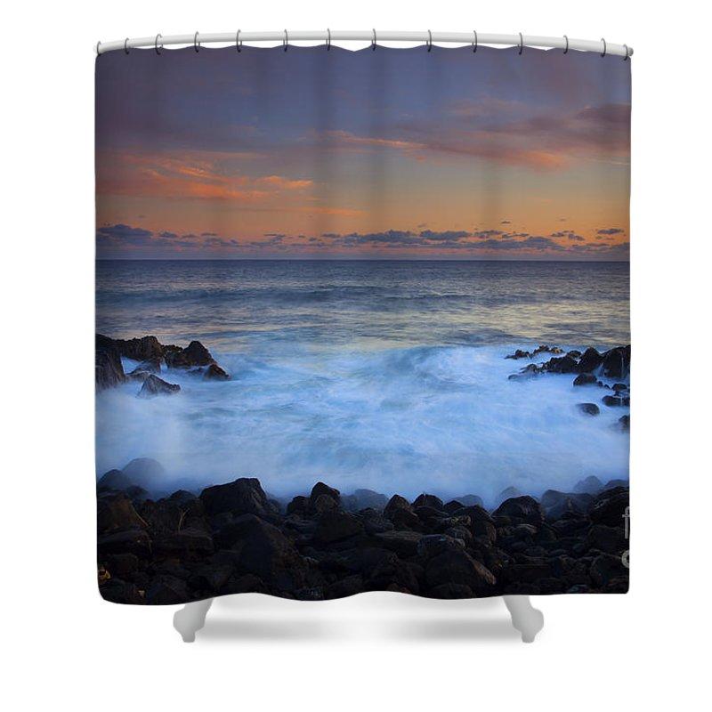 Kauai Shower Curtain featuring the photograph Flooding The Gaps by Mike Dawson
