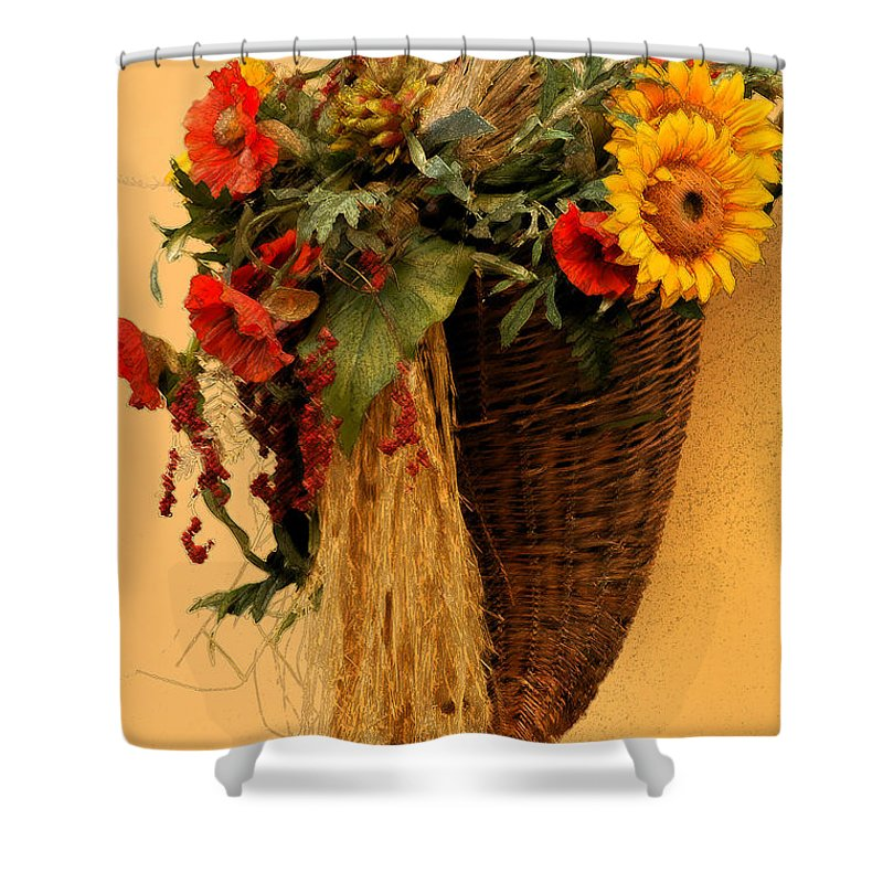 Floral Shower Curtain featuring the photograph Floral Horn Of Plenty by Mike Nellums