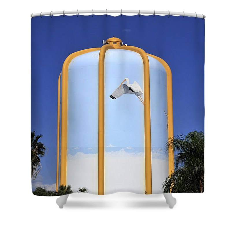 Water Tower Shower Curtain featuring the photograph Florida In Art by David Lee Thompson