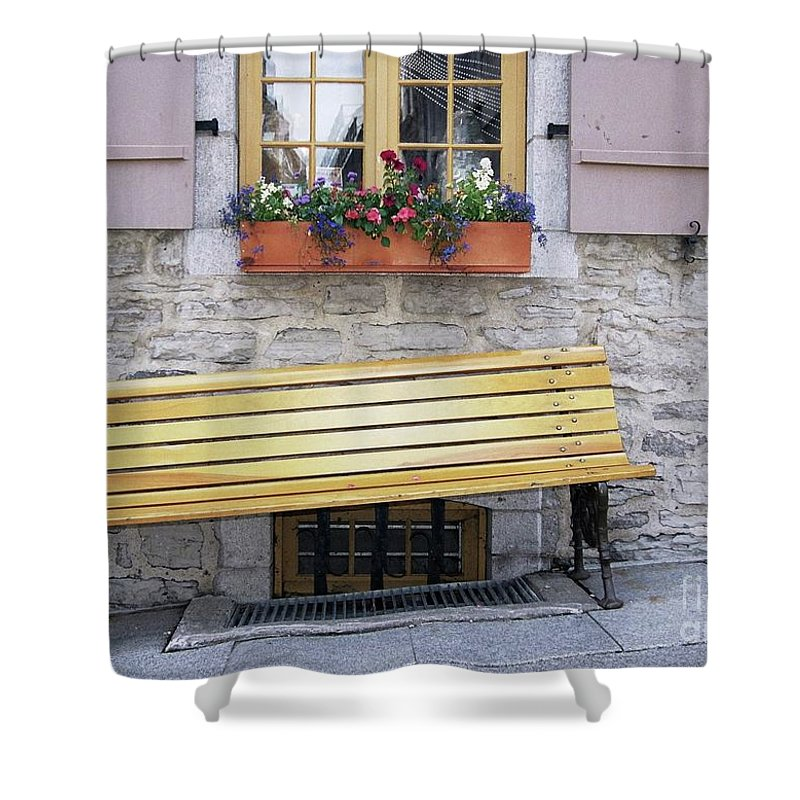 Flower Pots Shower Curtain featuring the photograph Flower Pots ...... 19 by Allen Beatty
