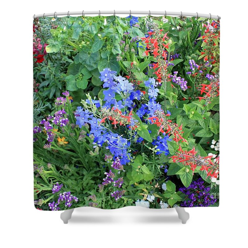 Flowers Shower Curtain featuring the photograph Flowers Galore by Carol Groenen