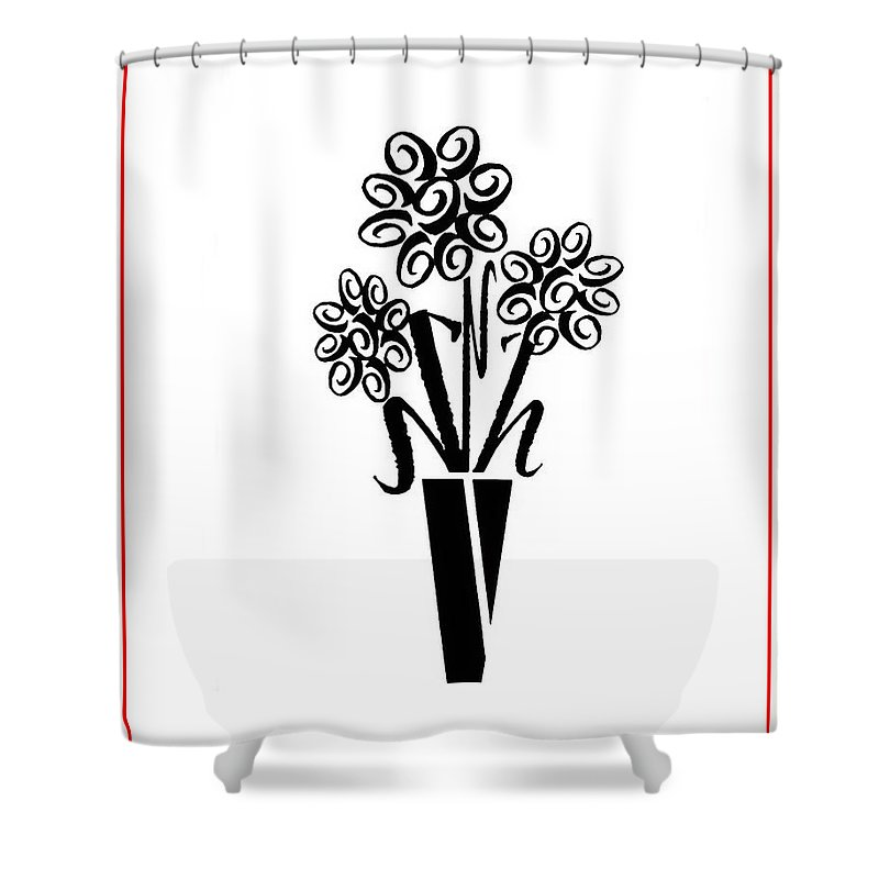 Flowers In Type Shower Curtain featuring the photograph Flowers In Type by Connie Fox