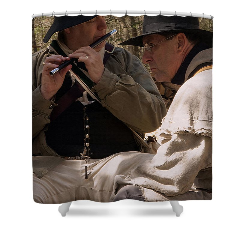 Reenactments Shower Curtain featuring the photograph Flute Melody by Kim Henderson