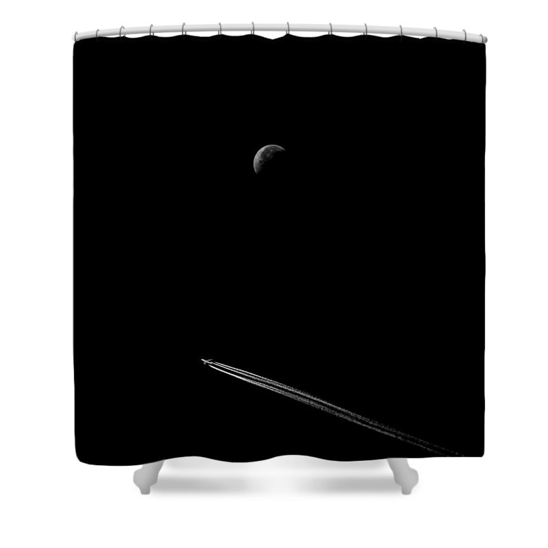 Moon Shower Curtain featuring the photograph Fly Me To The Moon by Andrew Fare