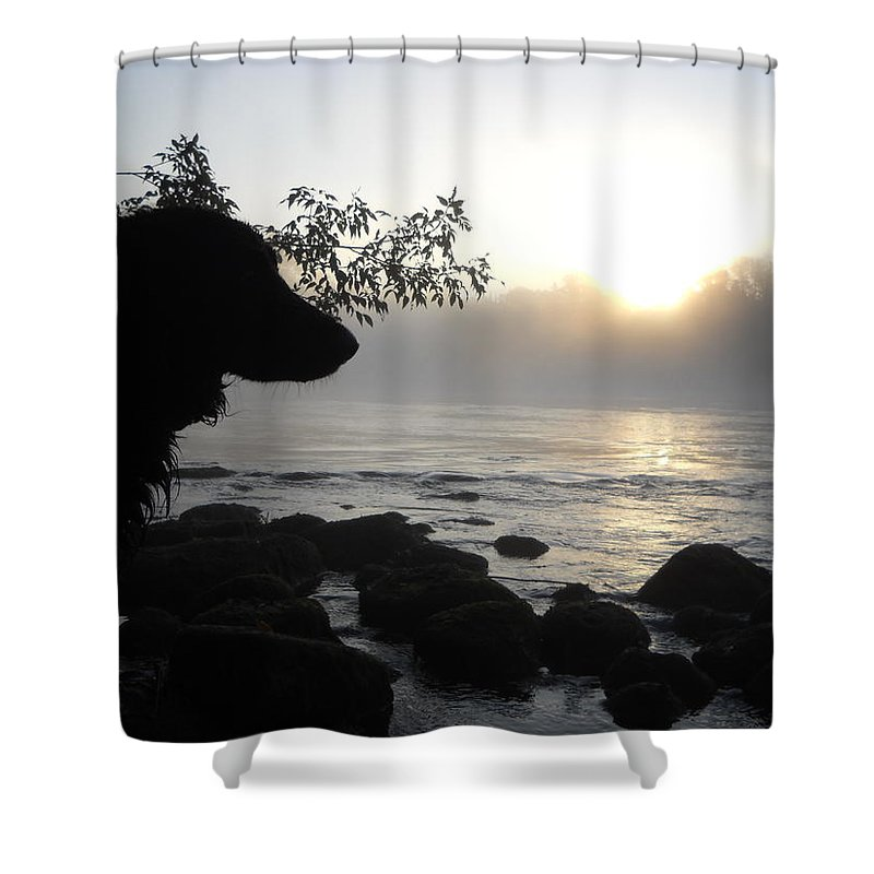 Fog Shower Curtain featuring the photograph Fog On The Rocks Sunrise by Kent Lorentzen