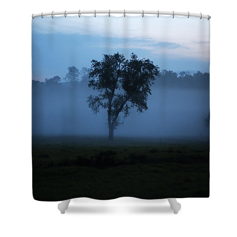 Fog Shower Curtain featuring the photograph Foggy Morning by Seth Solesbee