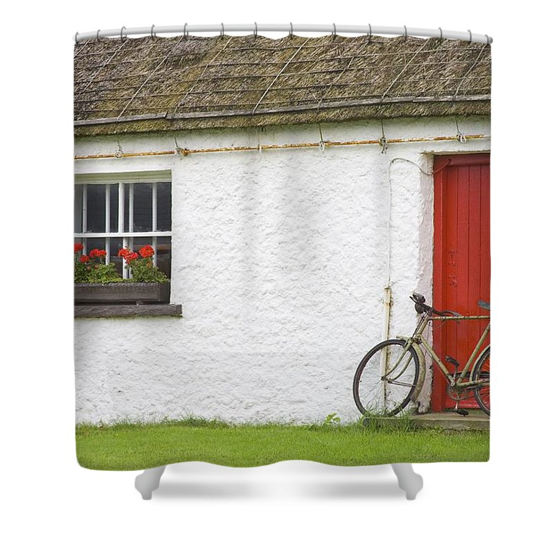 County Donegal Shower Curtain featuring the photograph Folk Village Museum, Glencolmcille by Richard Cummins
