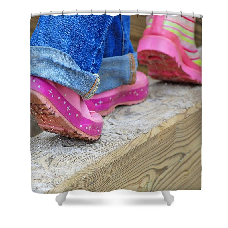 Portraits Shower Curtain featuring the photograph Follow The Leader by Lisa Phillips