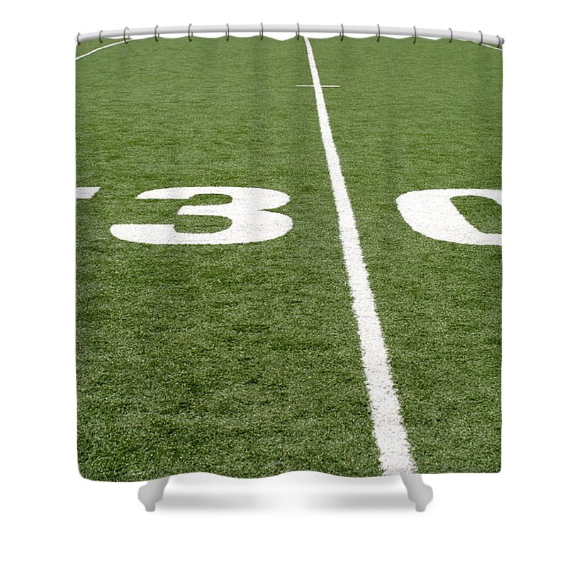 American Shower Curtain featuring the photograph Football Field Thirty by Henrik Lehnerer