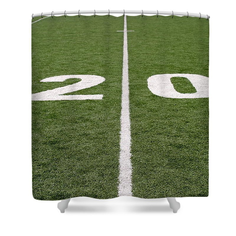 American Shower Curtain featuring the photograph Football Field Twenty by Henrik Lehnerer