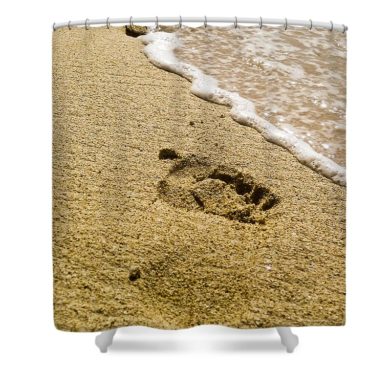 Caya Laventado Dominican Republic Shower Curtain featuring the photograph Footprint by Keith Allen