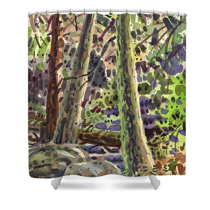 Forest Green Shower Curtain For Sale By Donald Maier