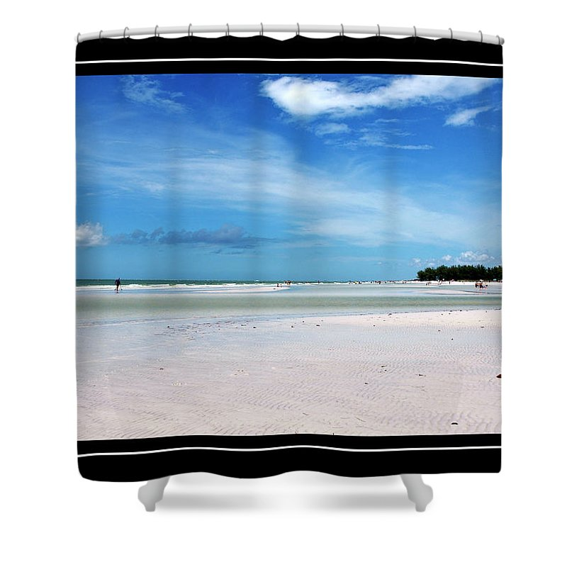 Fort Desoto Beach Shower Curtain featuring the photograph Fort Desoto Beach by Carolyn Marshall