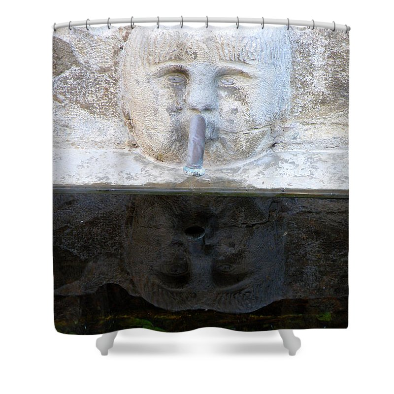 Fountain Shower Curtain featuring the photograph Fountain Face by Lainie Wrightson