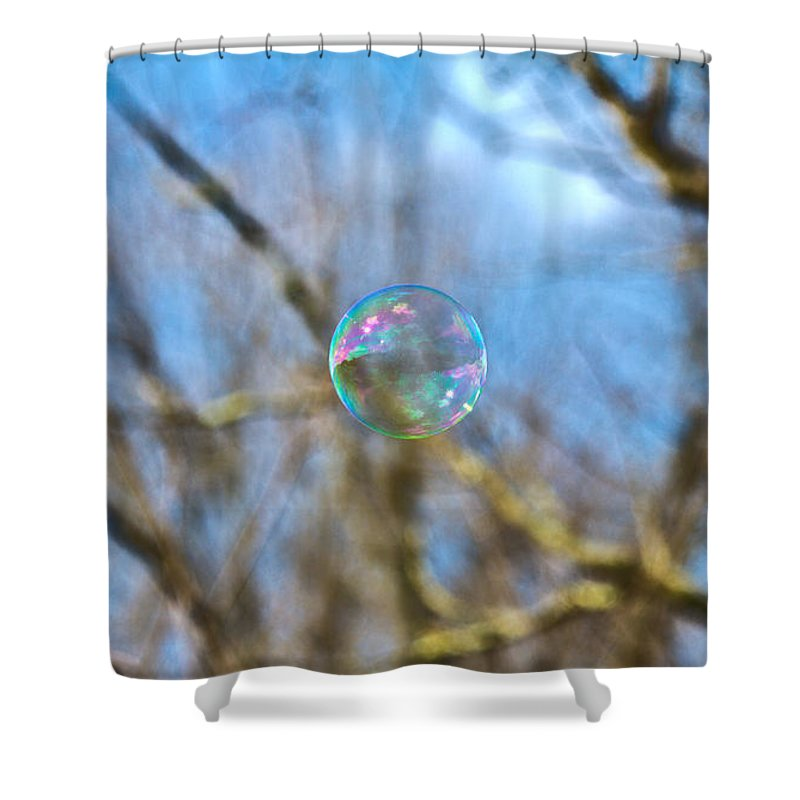 Bubble Shower Curtain featuring the photograph Fragile Contrast by Betsy Knapp