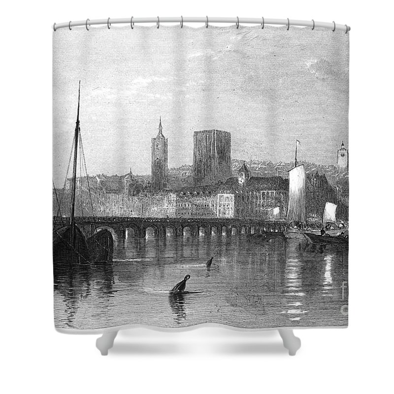 1835 Shower Curtain featuring the photograph France: Beaugency by Granger