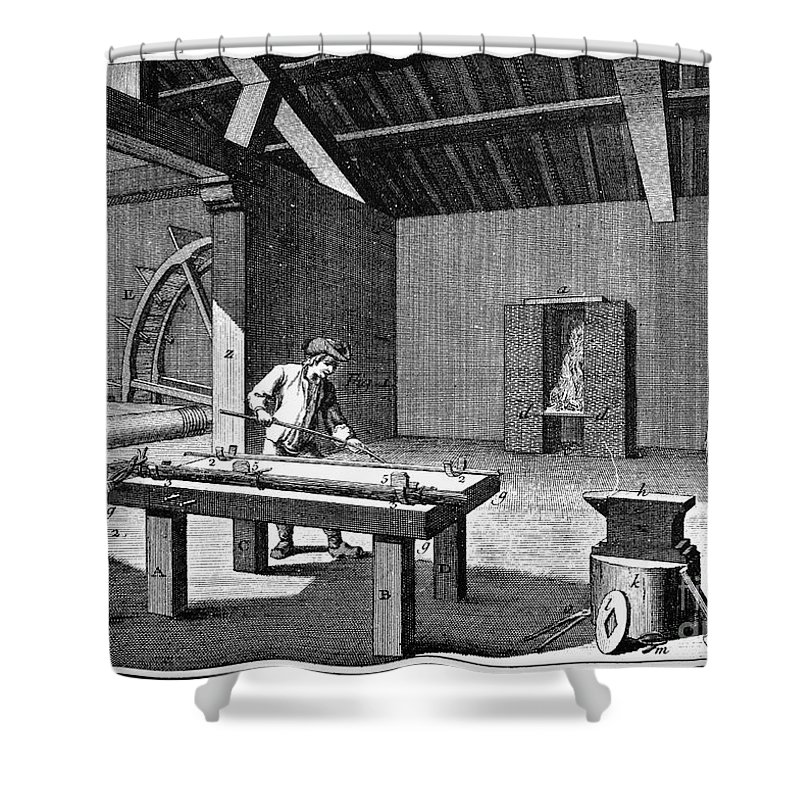 1750 Shower Curtain featuring the photograph France: Iron Mill, C1750 by Granger