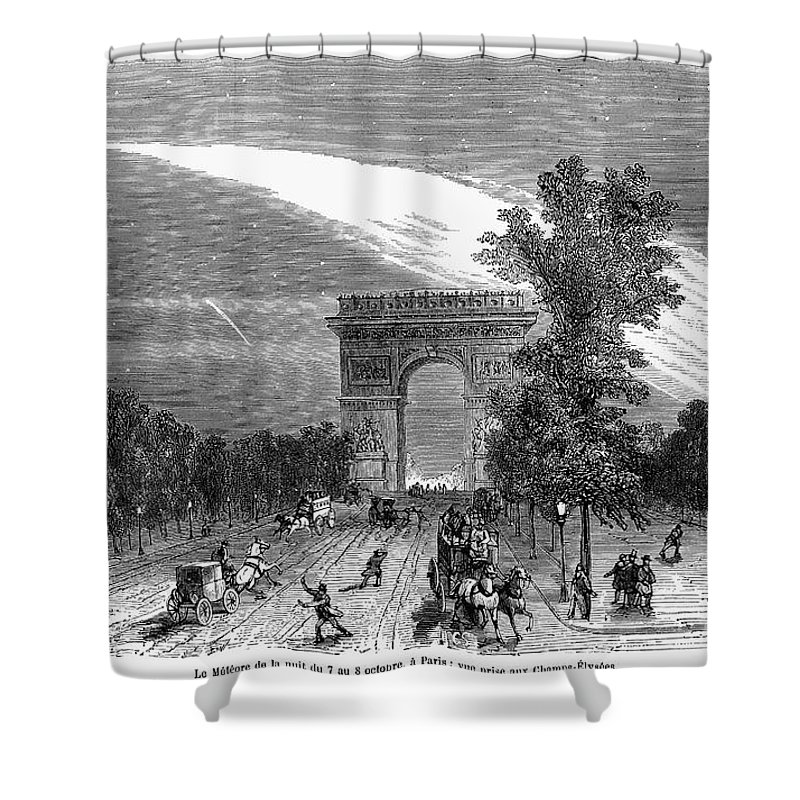 1868 Shower Curtain featuring the photograph France: Meteor, 1868 by Granger