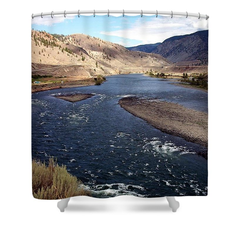 Fraser River Shower Curtain featuring the photograph Fraser River by Susan Saver