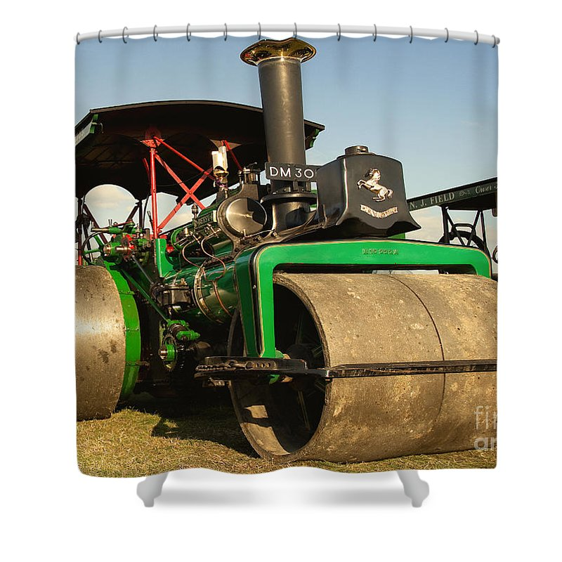 Fred Dibnah Shower Curtain featuring the photograph Fred's Betsy by Rob Hawkins