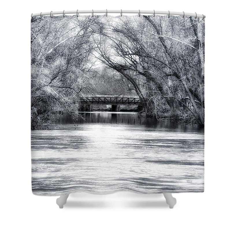 French Creek Shower Curtain featuring the photograph French Creek by Bill Cannon