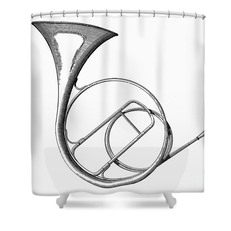 19th Century Shower Curtain featuring the photograph French Horn by Granger