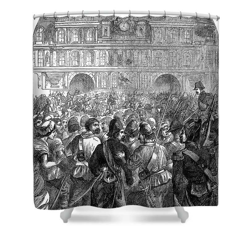 1794 Shower Curtain featuring the photograph French Revolution, 1794 by Granger