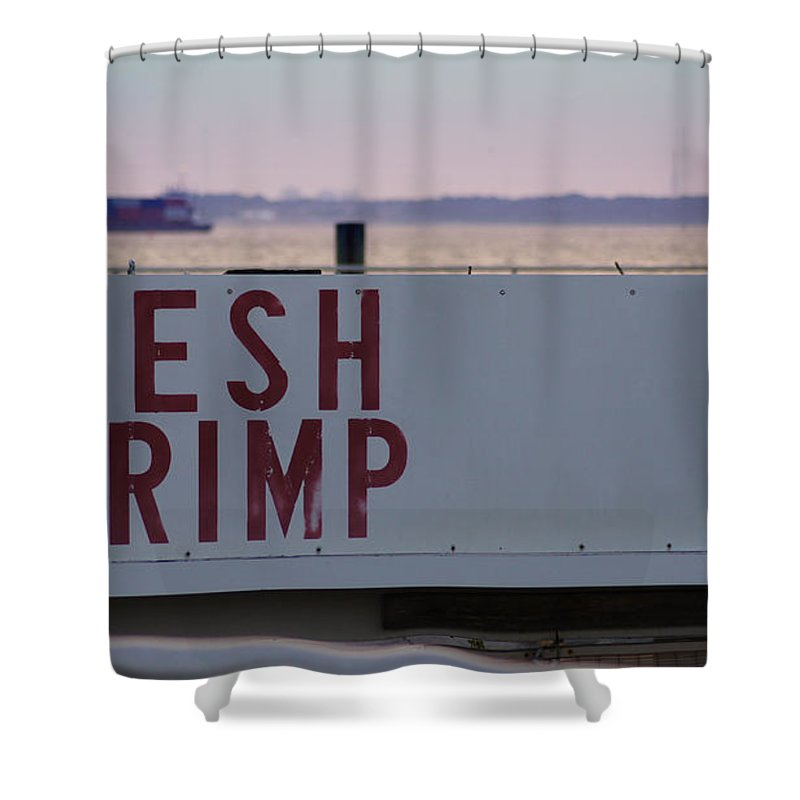 Fishing Shower Curtain featuring the photograph Fresh Shrimp by Paul Wilford